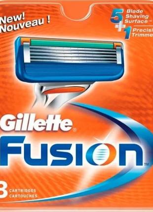 Сменные кассеты для бритья Gillette Fusion упаковка 8 шт