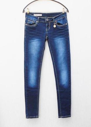 Синие потертые джинсы скинни toxik3 🌿
