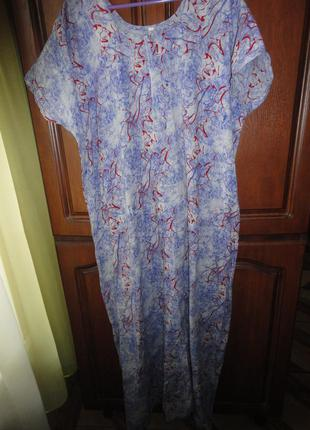 Коттоновое платье под джинс большого размера