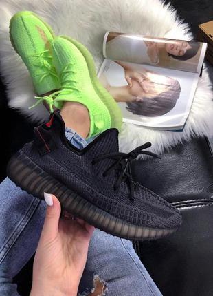 Шикарные кроссовки adidas yeezy 350 v2 triple black  унисекс😍 ...