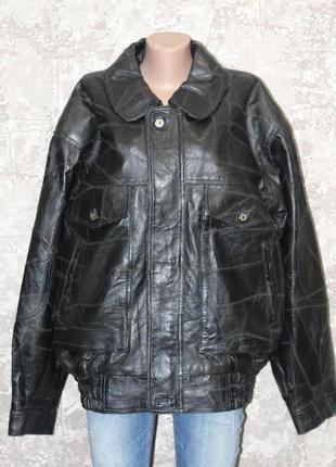 Шикарная кожаная куртка 54