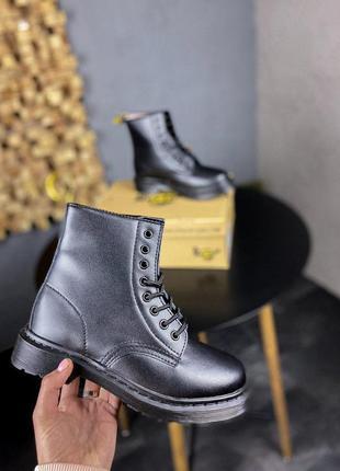 Женские зимние кожаные ботинки/ сапоги dr. martens mono black ...