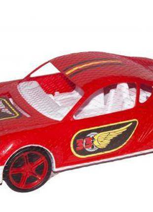 Машина спортивная с наклейками (красная)
