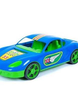 Машина спортивная с наклейками (синяя)