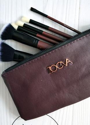 Кисти для макияжа zoeva classic queens guard brush set x6 марсала
