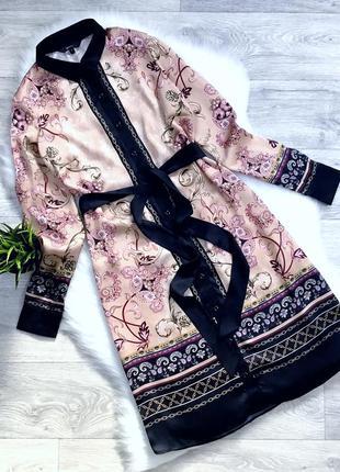 Платье -рубашка с поясом