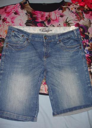 Шорты джинсовые женские летние размер 50 /16 стрейчевые