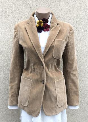 Жакет,пиджак,блейзер вельветовый,хлопок,люкс бренд,оригинал.