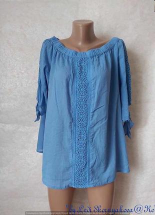 Фирменная george блуза со 100% хлопка с декоративной вставкой ...
