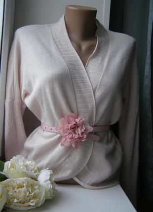 Bloom кардиган пудра 90% мериносовая шерсть 10% кашемир 36-размер