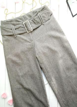 Шерстяные брюки палаццо