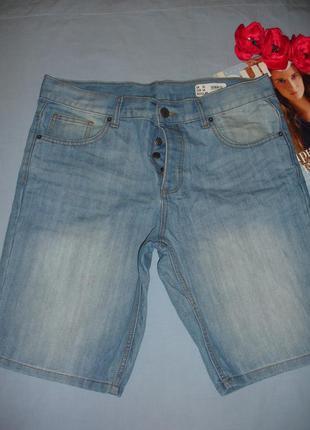 Шорты джинсовые мужские размер 48 w 34 denim летние 48-50 новые