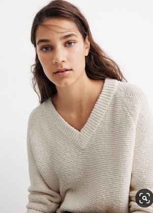 Шерстяной пуловер джемпер свитер вязаный реглан вовняний серый...