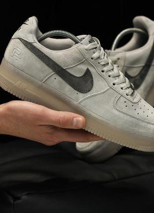 Nike air force 1 mid reigning champ, кроссовки замшевые мужски...