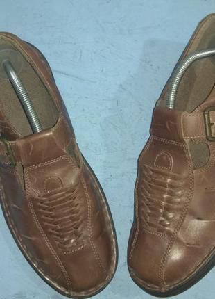 Кожаные мужские босоножки clarks р 43-44 сост новых