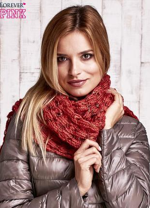 17-158 в'язаний шарф з блискітками вязаный шарф с блестками su...