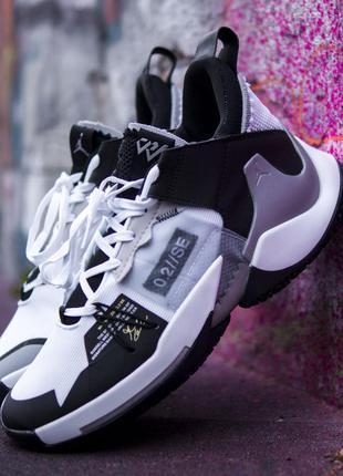 Nike air jordan why not zer 0.2 se black grey, мужские кроссов...