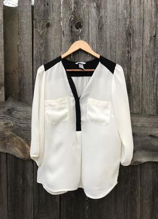 Белая блузка рубашка h&m