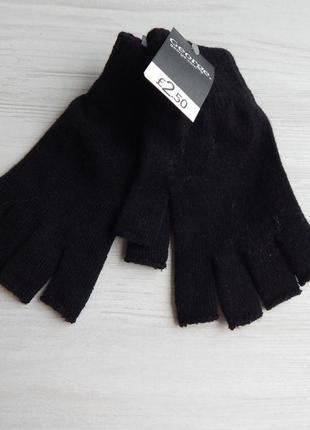 Перчатки без пальцев митенки george