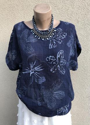 Блуза реглан,рубаха,удлиненная спинка,хлопок100%,этно бохо стиль