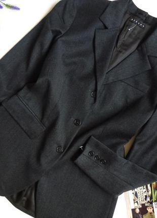 Базовый серый шерстяной пиджак