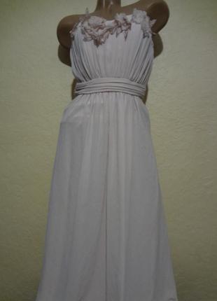 Красивое длинное вечернее платье размер xs s от h&m