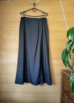 Чёрная юбка макси с кулиской gerry weber ml