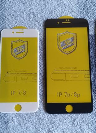 Iphone 6/7/8x , 6plus/7plus/8plus защитное стекло