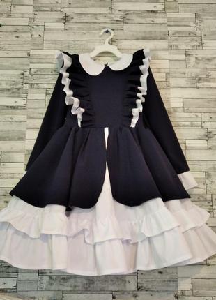 Школьное нарядное платье