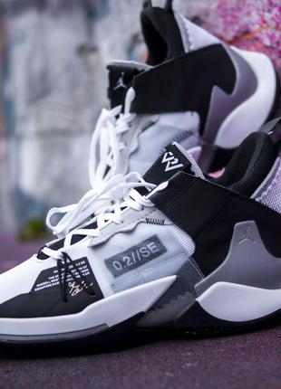Nike air jordan why not zer 0.2 grey/white кроссовки мужские н...