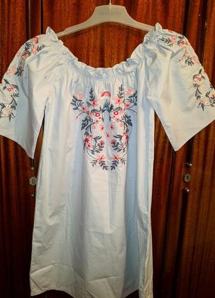 !продам новый женский сарафан платье с вышивкой