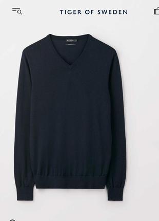 Tiger!!! пуловер джемпер 100% тонкая итальянская шерсть