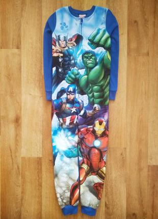 Флисовый человечек слип пижама кигуруми marvel