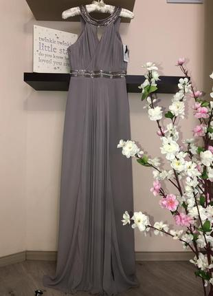Шикарное длинное вечернее платье, нарядное платье, платье на в...