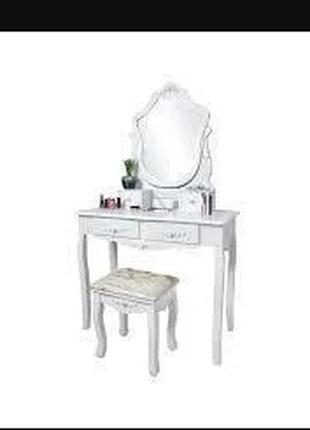 Косметический стол с зеркалом и стулом Серце. Трюмо. Польша. Ка.