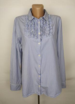 Блуза рубашка хлопковая красивая с рюшами большой размер gap u...