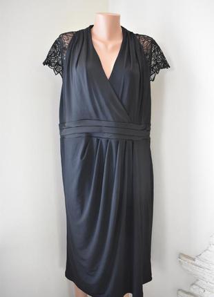 Красивое новое платье с кружевными рукавами alexon