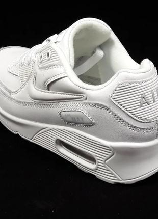 Женские Кроссовки Nike Air Max 90 (Белые)