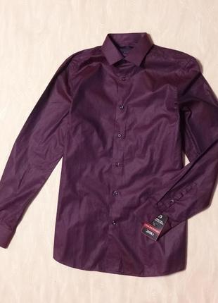 Фирменная фиолетовая рубашка next , р.46_