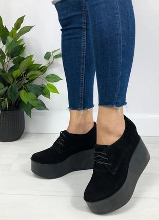 Женские туфли на высокой платформе