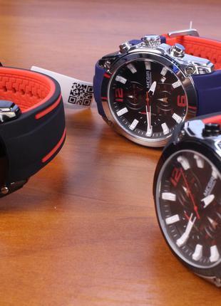 Часы Megir 2063 кварцевые новые с хронографом