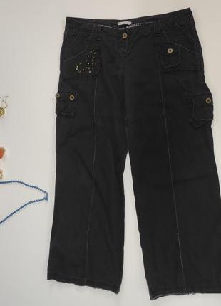 Женские прямые летние брюки  размер 48