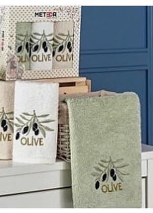 Набор красивых кухонных полотенец mila homeuz из трех штук, ра...