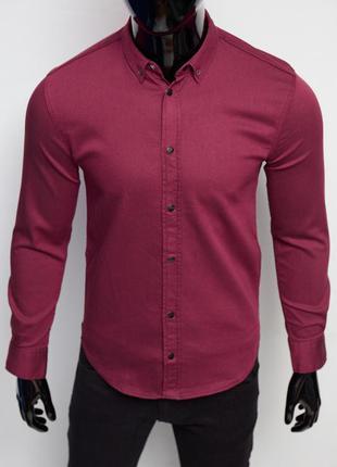Рубашка мужская джинсовая figo 16000 цвета в ассортименте