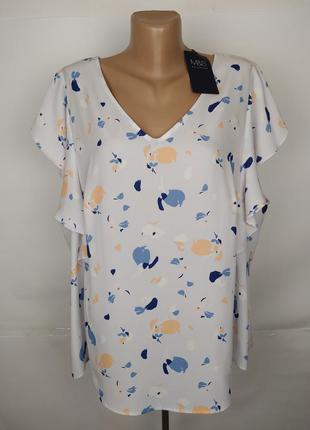 Блуза легкая красивая в принт большого размера marks&spencer u...