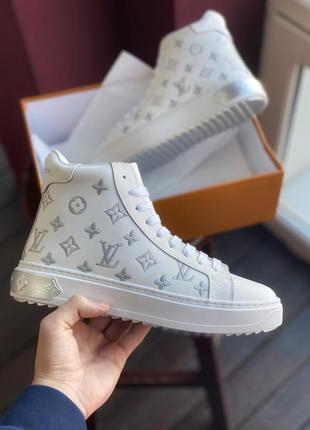 Кроссовки женские sneakers high white