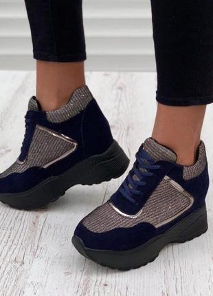 Бомбезные кроссовки на флисе
