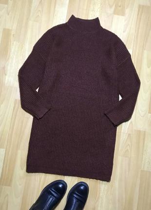 В наличии - теплое платье-свитер *forever 21* р. s
