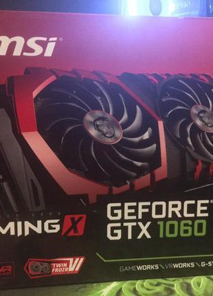 Видеокарта MSI GeForce 1060 6GB Gaming X + Есть видео с тестирова